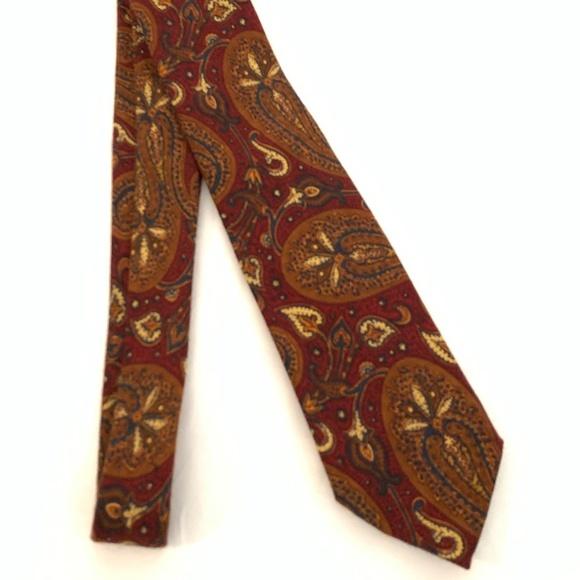 Burgundy Rossovivo Mens Paisley Tie